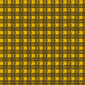 squiggle plaid - yellow