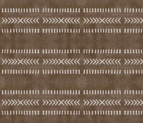 Minimalist Tribal Pattern on Brown fabric by mel_fischer on Spoonflower - custom fabric