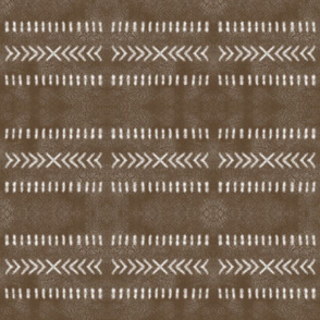 Minimalist Tribal Pattern on Brown