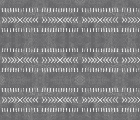 Minimalist Tribal Pattern on Gray fabric by mel_fischer on Spoonflower - custom fabric