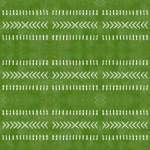 Minimalist Tribal Pattern in Lime Green