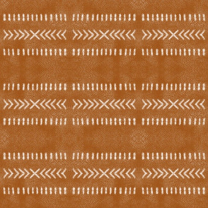 Minimal Tribal Design on Burnt Orange