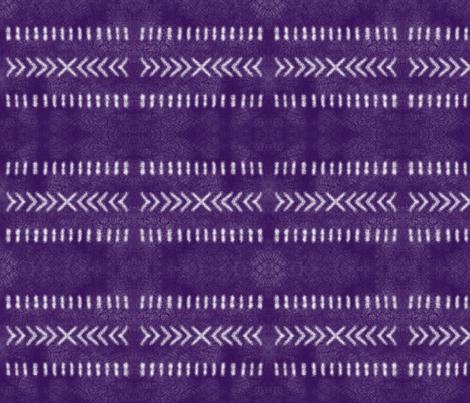 Minimalist Tribal Pattern on Purple fabric by mel_fischer on Spoonflower - custom fabric