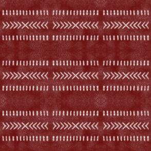Minimalist Tribal Pattern in Red
