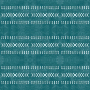 Minimalist Tribal Pattern in Teal