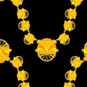 Fractal Necklace, Gold