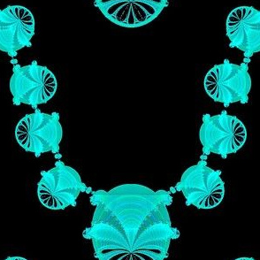 Fractal Necklace, Turquoise