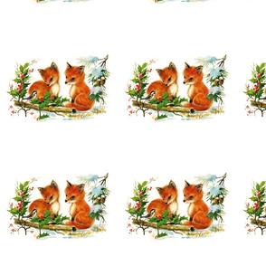 custom christmas fox listing
