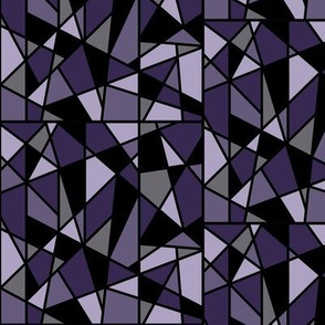Geometric Design in Purple and Black