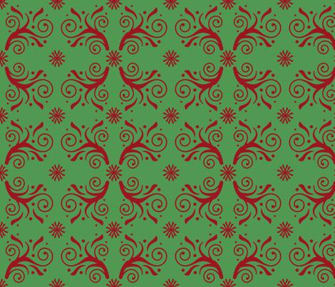 Christmas Flourish Pattern fabric by mel_fischer on Spoonflower - custom fabric