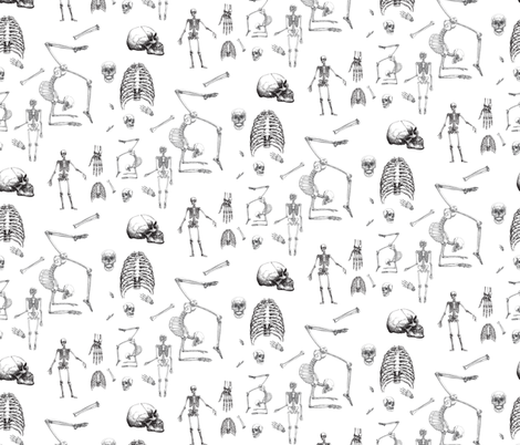 Skeletons Oh My fabric by mischievousdesign on Spoonflower - custom fabric