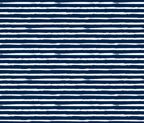 White Painted Stripes on Navy Blue (Grunge Vintage Distressed 4th of July American Flag Stripes) fabric by sweeterthanhoney on Spoonflower - custom fabric