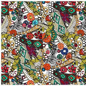 Indian dance tea towel