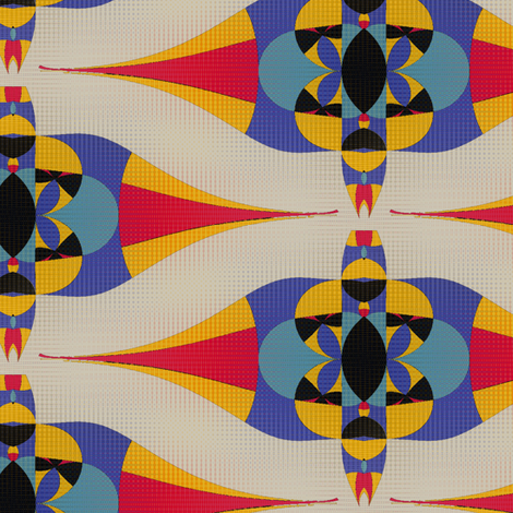 Horus (Red) fabric by david_kent_collections on Spoonflower - custom fabric
