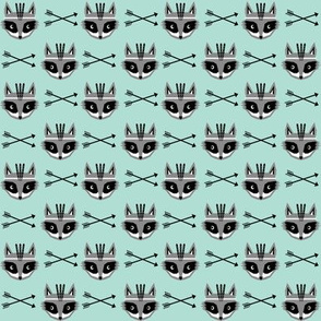 raccoon fabric arrows southwest mint nursery design