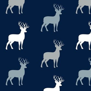 multi buck (navy, rustic woods blue, grey) buck  coordinate
