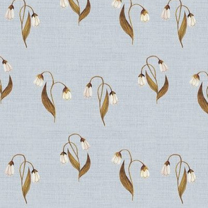 Bronze Lily on Grey Linen