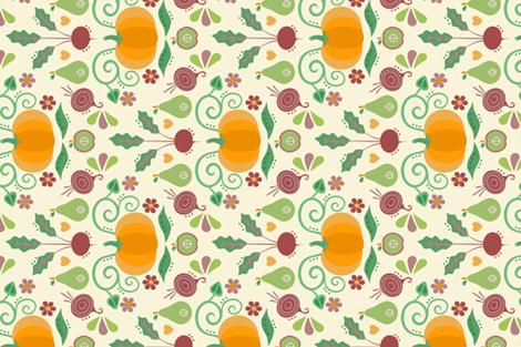 autumn colors fabric by sarahparr on Spoonflower - custom fabric