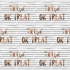 "4"" Trick or Treat // Thin Black Stripes"