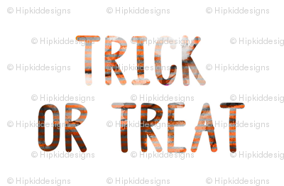 "4"" Halloween Trick or Treat // White"