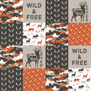 Wild & Free/ so deerly loved - woodland patchwork - C1