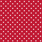 true red polka dots