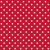 true red polka dots