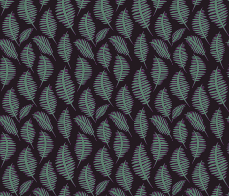 fernsdark fabric by krista_power on Spoonflower - custom fabric