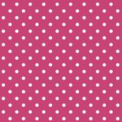 fuchsia rose polka dots