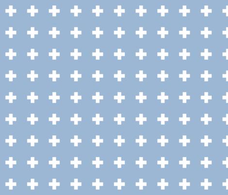 cerulean cross + fabric by misstiina on Spoonflower - custom fabric