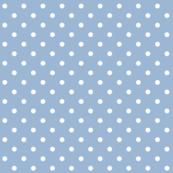 cerulean polka dots
