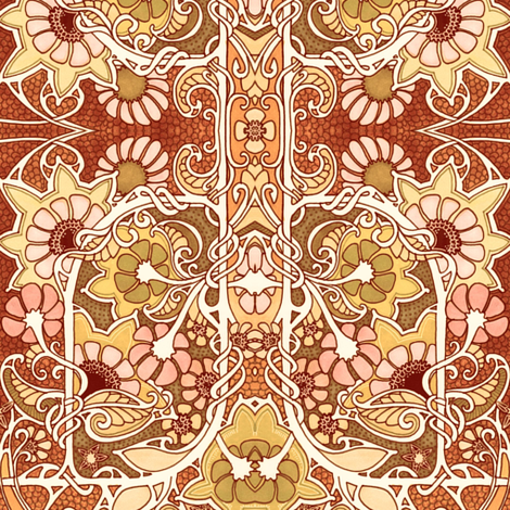 Warm Autumn Afternoons  fabric by edsel2084 on Spoonflower - custom fabric