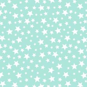Twinkle Stars // Mint Blue