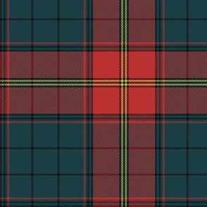 Ulster district tartan, red - bright, 6""