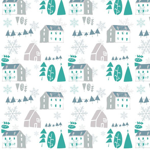 Christmas white Houses
