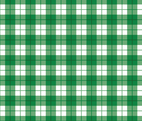 Green and White Plaid fabric by hipkiddesigns on Spoonflower - custom fabric