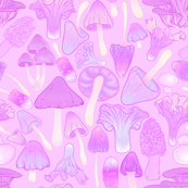Mushroom Hunt in Purple