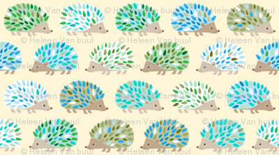 hedgehog polkadot -small blue yellow