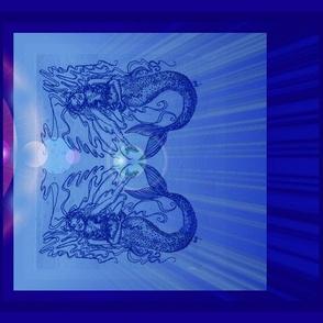Mermaid#4_Blues-ForCushions/Teatowels-ed
