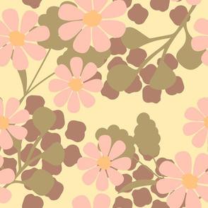 Pink daisies on a light background