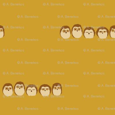 Owlet Puff - Mustard