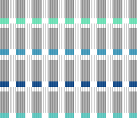 Corrugated | Blues with Gray fabric by shiere on Spoonflower - custom fabric