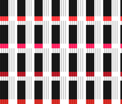 Corrugated | Reds with black fabric by shiere on Spoonflower - custom fabric