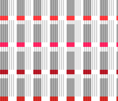 Corrugated | Reds with gray fabric by shiere on Spoonflower - custom fabric