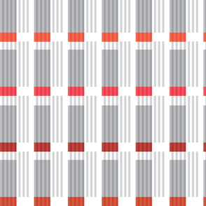 Corrugated | Reds with gray