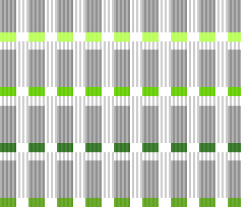Corrugated | Greens with gray fabric by shiere on Spoonflower - custom fabric