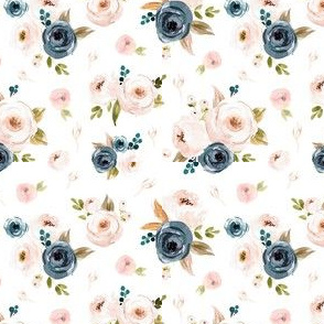 Blush and Blue Floral Smaller