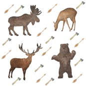 Deer Bear Stag Moose Smaller