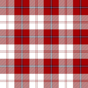 "Cunningham dress tartan, 6"" red with blue"
