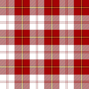 "Cunningham dress tartan, 6"" red with yellow"